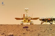 Čínsky pristávací modul misie Tchien-wen-1 s roverom pristál na Marse minulý mesiac.