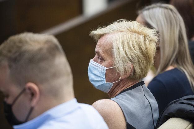 Zlatica Kušnírová, matka zavraždenej Martiny Kušnírovej počas verejného zasadnutia na Najvyššom súde.