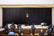 Marian Kočner a Tomáš Szabó v pojednávacej miestnosti Najvyššieho súdu.
