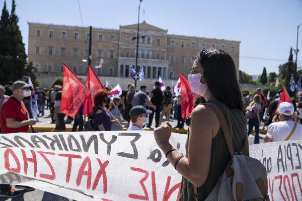 Protest v Grécku trval 24 hodín.