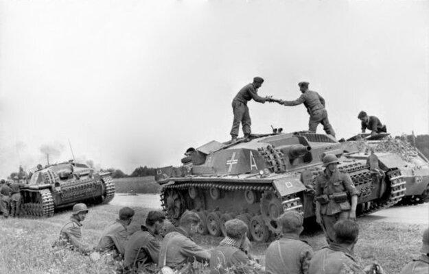 Postup nemeckej armády litovským územím.