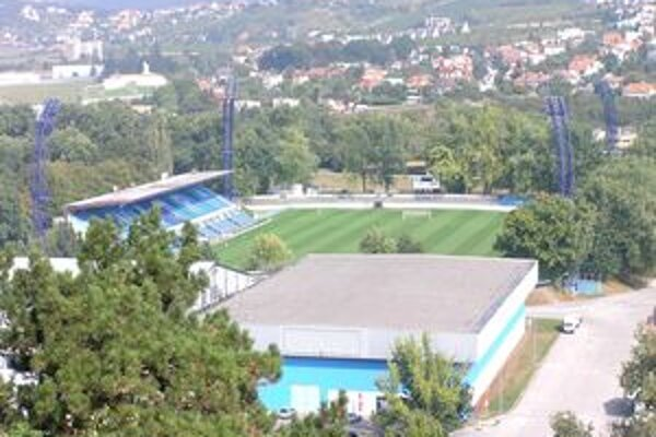 Futbalový štadión v Nitre.