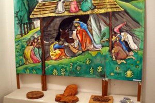 Na výstave nájdete aj diela s biblickými motívmi.