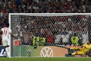 Momentka z finále ME vo futbale (EURO 2020 / 2021): Taliansko vs. Anglicko.
