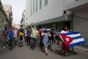 Protesty na Kube.