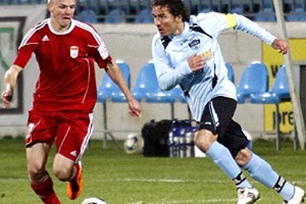 Róbert Rák mal v piatok proti Banskej Bystrici bilanciu 1+1.