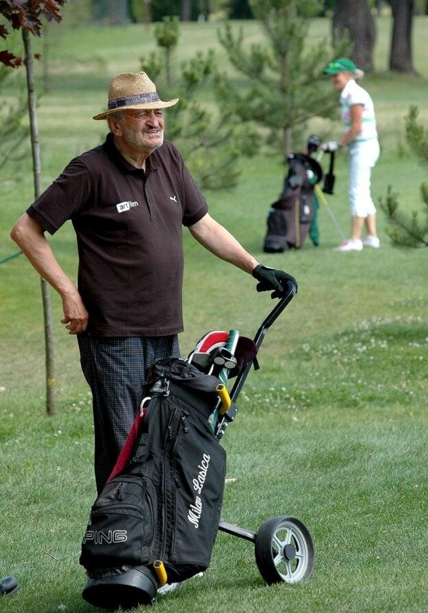 Milan Lasica na golfe v Piešťanoch.