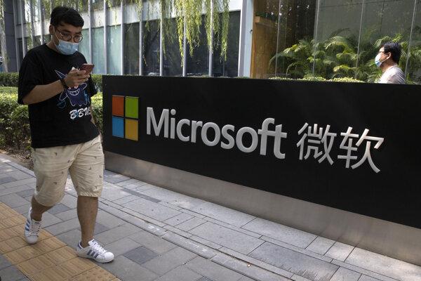 Kancelárie spoločnosti Microsoftu v Pekingu.