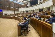 Atmosféra pred začatím rokovania mimoriadnej 36. schôdze Národnej rady SR. Bratislava, 26. júl 2021.