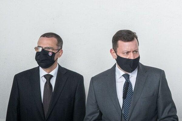 Generálny prokurátor SR Maroš Žilinka a špeciálny prokurátor Daniel Lipšic.
