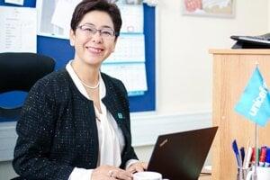 Yukie Mokuo vedie libanonské zastúpenie UNICEF-u.