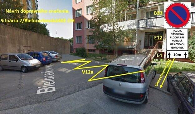 Návrh riešenia na Bielocerkevskej ulici v Košiciach.