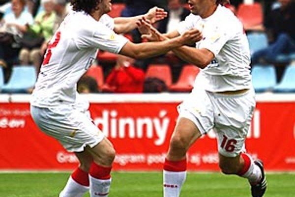 Striedajúci Andrej Brčák sa v sobotu tešil z druhého gólu v lige.