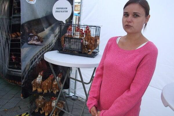 Martina Kamenská v piatok v Nitre.