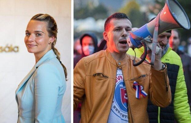 Poslankyňa Romana Tabák a bývalý policajt Peter Sihelský.