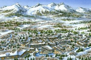 Vizualizácia projektu Silver Resort v Tatranskej Lomnici.