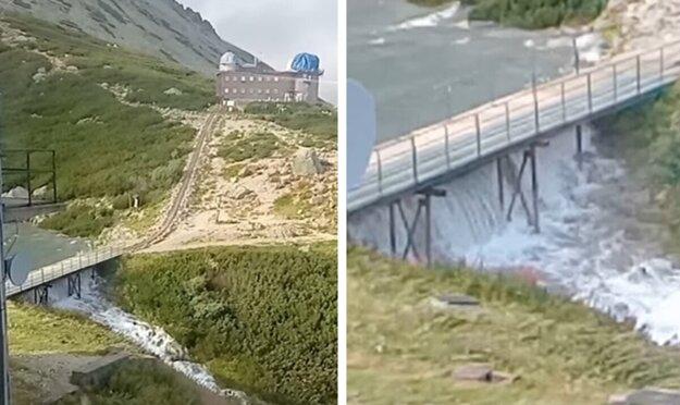 Voda zo Skalnatého plesa sa začala vylievať.