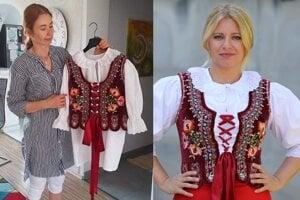 Danka Tropeková vyšívala časť kroja pre prezidentku Zuzanu Čaputovú.