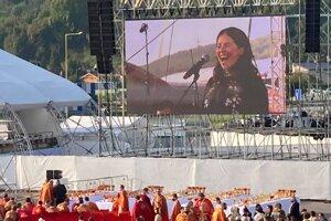 Vystúpila aj prešovská speváčka Katka Knechtová.