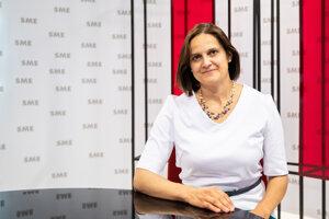 Mária Kolíková v štúdiu SME.