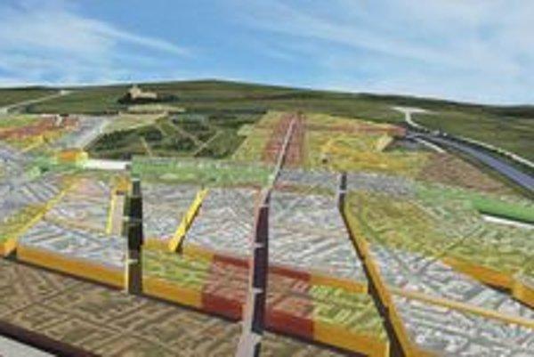 Nová štvrť má vyrásť na poliach. Z jednej strany je ohraničená severným obchvatom, z druhej riekou Nitra.