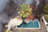 Láva na kanárskom ostrove La Palma ničí domy