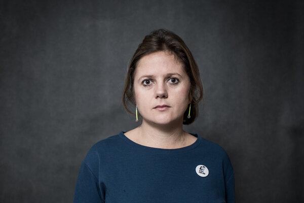Novinárka Denníka N Monika Tódová.