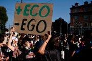Klimatický protest v Miláne