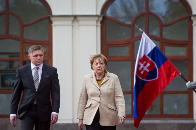 Merkelová a Robert Fico