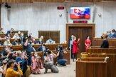 Pozrite si fotografie z prejavu prezidentky Čaputovej
