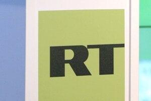 Logo ruskej spravodajskej stanice RT.