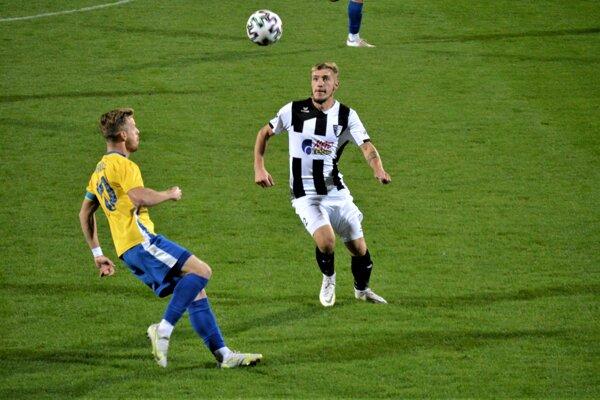 Momentka zo zápasu Myjava (čierno-biela) proti ViOnu B.