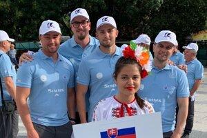 Levičania na majstrovstvách v Bulharsku: Peter Klesniak,  Robert Novotný, Peter Augustín, Marek Rojtáš.
