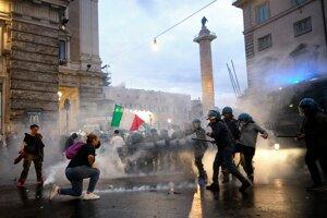 Protesty v Ríme.