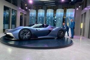Vodíkové auto predstavil na Expo v Dubaji minister hospodárstva Richard Sulík.