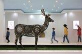 Iránski umelci vytvorili zoo z kovového šrotu