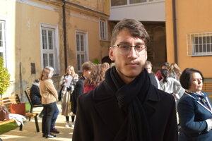 Damián Neupauer, jeden z vyše stovky ocenených študentov Prešovského kraja.