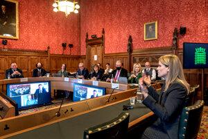 Haugenová na stretnutí s britskými poslancami.