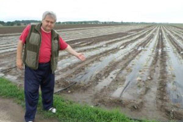 Zrážky spôsobili škody agropodnikateľom.