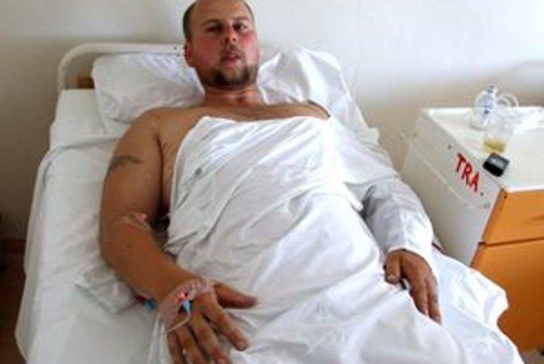 Martin je po úraze hospitalizovaný v nitrianskej nemocnici.