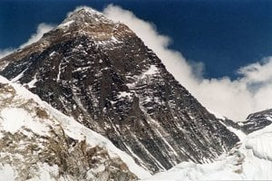 Mount Everest. Pohľad z Kala Patthar (5700 m.n.m)