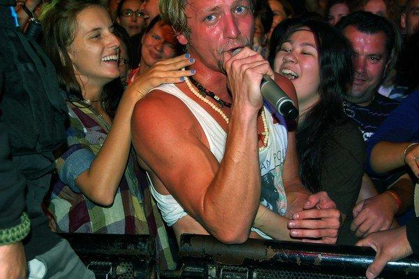 Bývalý český Slávik pri koncerte na festivale Lodenica.