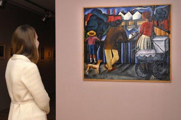 K vyvrcholeniu projektu EHMK Košice 2013 patrilo tohtotýždňové otvorenie výstavy Košická moderna. Na snímke pohľad na dielo Gejzu Schillera Mestský motív.
