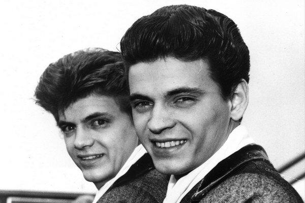 Phil (vľavo) a Don Everlyovci na zábere z roku 1960.