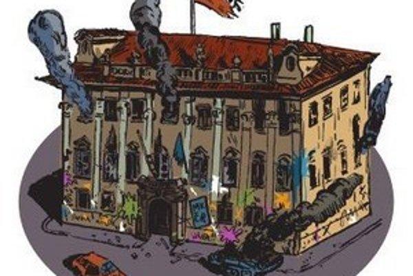 Českí aktivisti sa chystajú na ministerstvo kultúry.