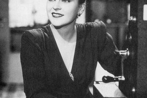 Zita Kabátová žiarila najmä v tridsiatych a štyridsiatych rokoch.