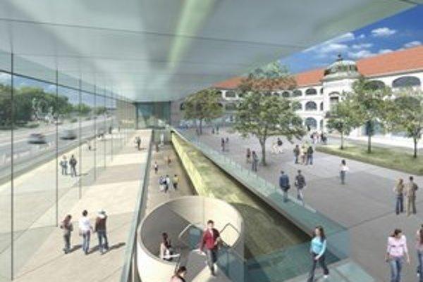 Aj takto by mala vyzerať SNG po rekonštrukcii. Pohľad do rekonštruovaných výstavných priestorov a nádvoria, a na časť interiéru s priehľadom do nádvoria.
