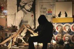 Banksy vo filme Exit Through the Gift Shop.