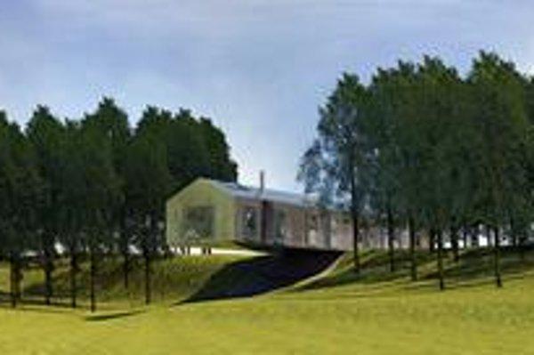 Medzi prvé dokončené domy projektu patrí  Balansujúca stodola, spolovice visiaca vo vzduchu.