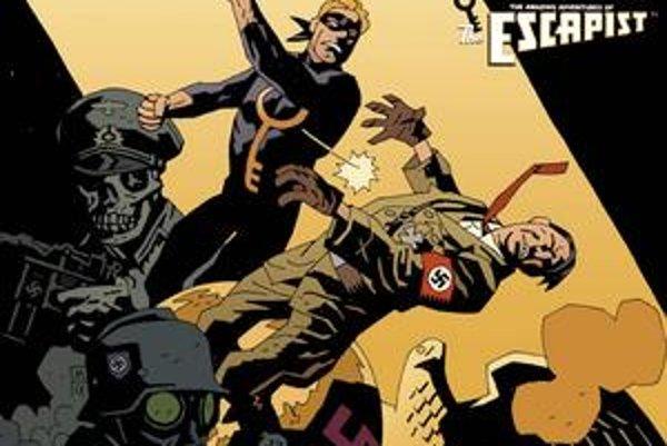 Komiksová fantázia: Eskapista zasadzuje tvrdú ranu Hitlerovi.